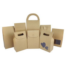 customized kraft paper bags with PVC window and handle