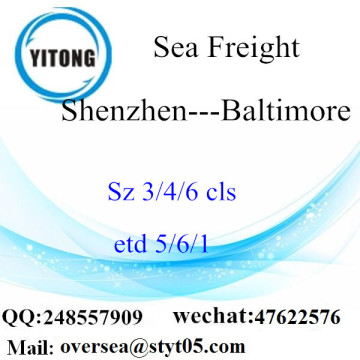 Shenzhen Port LCL Consolidation naar Baltimore