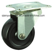 Black Rubber Light Duty Castors, Swivel