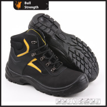 Industrial Leather Safety Boots with Steel Toe and Steel Midsole (SN5182)
