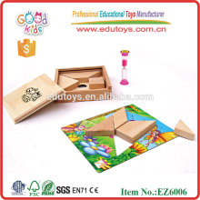 Hölzernes pädagogisches Puzzle Spielzeug mit Buch