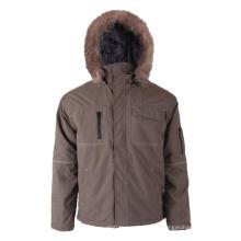 Khaki 100% Polyester Winterjacke