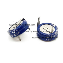 Super capacitor 0.1F 5.5V -20% to 80% (11.5 X 4.3 X 12.7mm) Radial Stacked Coin 5mm 75 Ohm 1000h 70C Bag RoHS KR-5R5V104-R