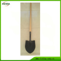 Long Wood Handle Digging Steel Shovel