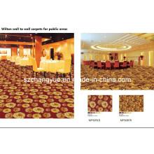 PP Heat Set Wilton tejido de pared a pared alfombra de telar de ancho