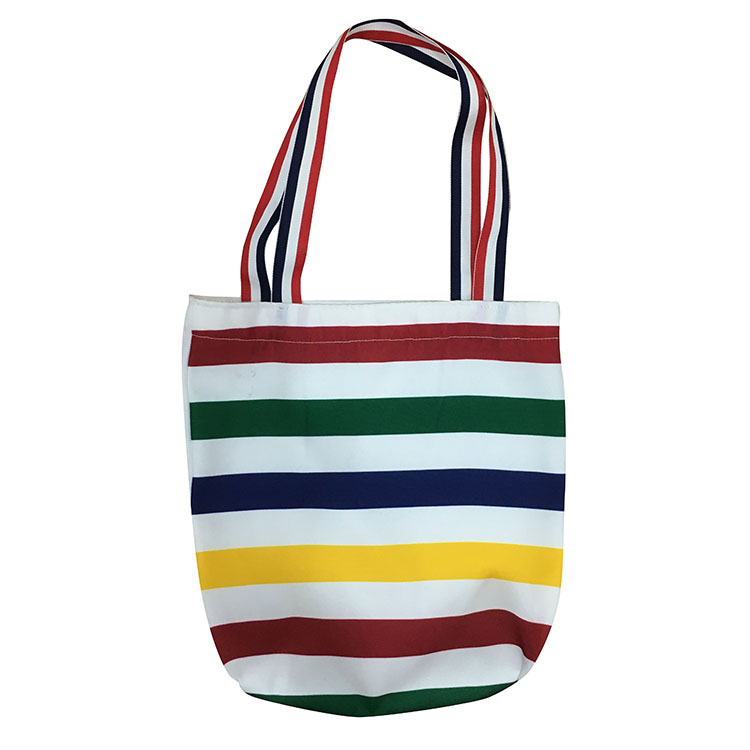 Christmas Rainbow Stripe Tote Bag