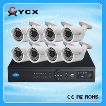 YCX1080P 2.0MP H.264 8ch kit de poe nvr