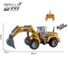 DWI  Simulation design 5 channel rc construction toy trucks excavator for sale