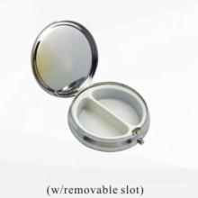 Boîte de rangement en métal argenté (BOX-33)