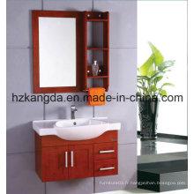 Cabinet de salle de bain en bois massif / vanité de salle de bain en bois massif (KD-422)