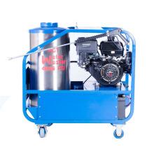 Equipo de limpieza a alta presión de agua caliente con aceite impulsado por gasolina