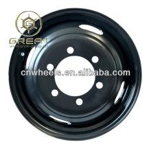 Nueva utilidad ruedas de acero de 16x5.5, rueda de camión negro de luz