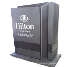 Stand de exibição de sinais de pilão com caixa de luz LED como equipamento de publicidade