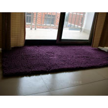 Puple Color Door Mat Chenille Carpet