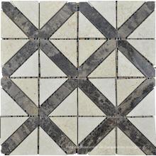 Dreieck Mosaik Fliese Marmor Stein Mosaik (HSM181)