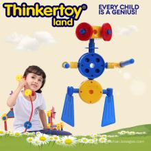 Plástico brinquedo interlocking mini-robô para crianças