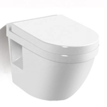 High end European standard bathroom ceramic one piece wall hung toilet from China