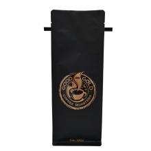 12oz matt black custom style coffee bag