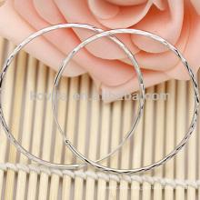 Женская мода большие серьги стерлингового серебра обруча