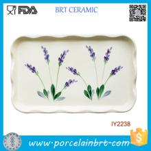 Heiße unregelmäßige Rechteck-gewellte Rand-Keramikplatte