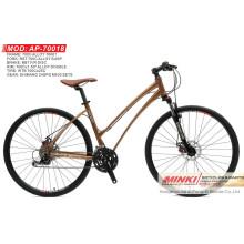 700 C rueda de la bicicleta híbrida de la bicicleta de 24 velocidades (AP-70018)