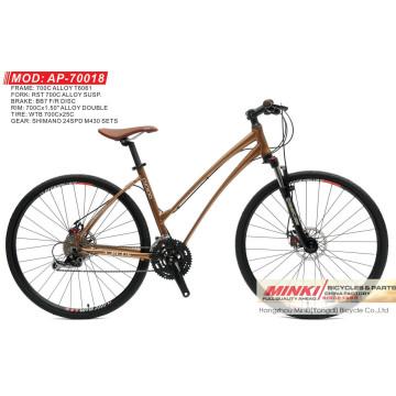 700 C Enrouleur Vélo hybride 24 vitesses (AP-70018)