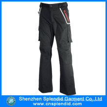 Top Quality China Black Mens 100%Cotton Pants with Pocket