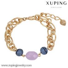 73975-Xuping Moda Pulseira Mulher Presentes Jóias com 18k banhado a ouro