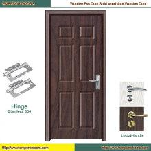 Puerta interior del PVC de la puerta interior del MDF de la puerta del PVC MDF