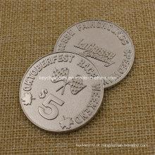 Alta Quatity personalizado gravado metal desafio moeda de prata lembrança