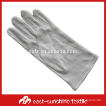 white 100%cotton jewelry gloves