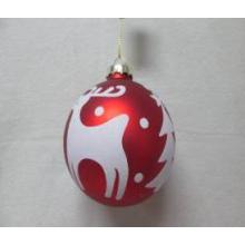 Natal, sortido, vidro, bola, vermelho, branca, veado, decalque
