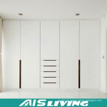 A laca lustrosa alta branca retira o armário do vestuário da porta (AIS-W479)