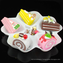 Plastic Plate Disposable Tray 5 Compartment Plastic Tray