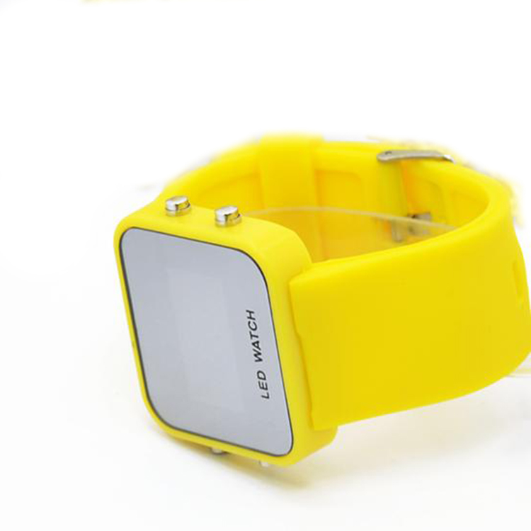 silicon digital led watch odm oem led watch