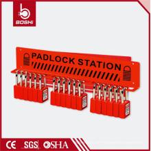 Kann mit 15 Vorhängeschlössern Stahl Vorhängeschloss / Lockout Station ausgestattet werden