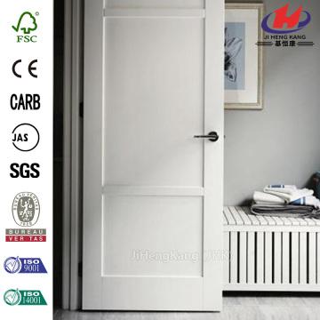 China Primed 3 Panel Solid Core Wood Interior Door Slab Manufacturers