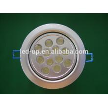 Zhongshan a conduit vers le bas des lumières 12W lumière intérieure ronde led plafonnier