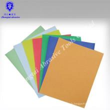 Papier de verre abrasif sec coloré de haute qualité avec de nombreuses tailles