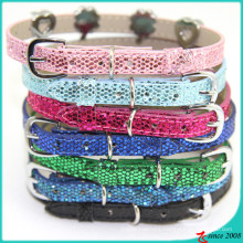 Sparkle 8mm Leather Cats Collar Wholesale (PC16041401)