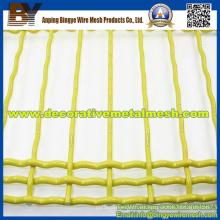 Malla de alambre prensado revestido PVC de la decoración durable