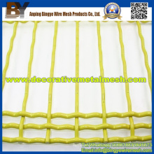 Durable Decoration PVC Coated Crimped Wire Mesh