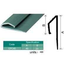 Borde plástico del vinilo del piso del piso / tiras de borde del suelo