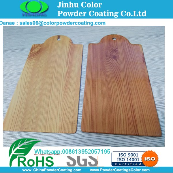 tekstur kayu finish powder coating