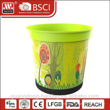 Hot Selling In-Mold labeling Plastic Flower Pot for home/garden decorated