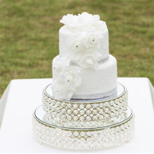 Wholesale Creative Party Cake Tools Metal Gold Crystal Wedding Cake Stands