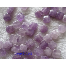 Jewelry Parts-Natural Amethyst Flower