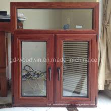 Fenêtre en verre massif en bois moulé avec finition de marque allemande