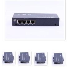1 a 4 VGA Extender por Single Cat5e / 6
