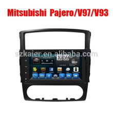 9 '2 din android voiture GPS Navigator Radio lecteur DVD pour Mitsubishi Pajero V97 / V93 prix usine avec écran tactile complet